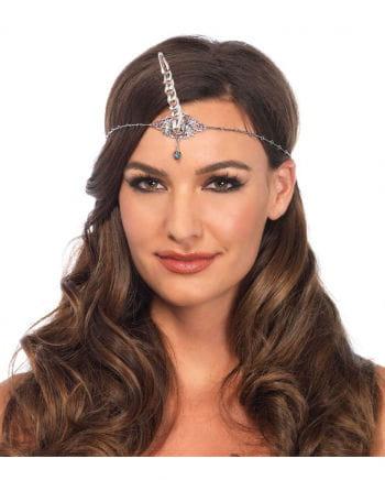 Unicorn headband necklace silver
