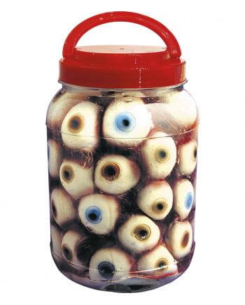 Einmachglas mit Augen