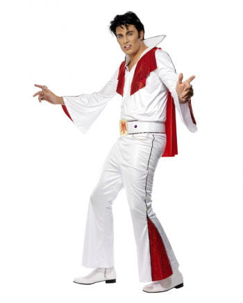 Elvis Costume License White Red