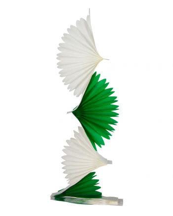 Fächer Girlande grün/weiß 3 m