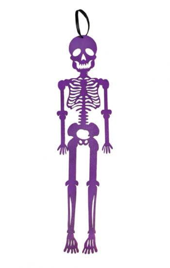 Hänge-Skelett aus Filz violett