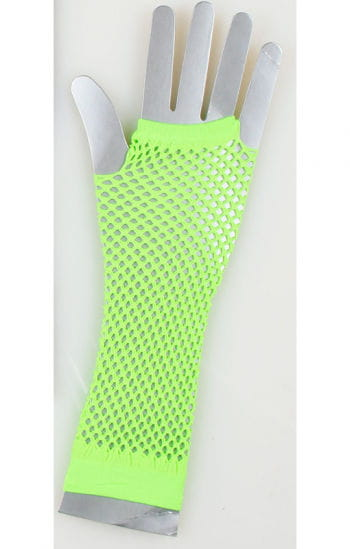 Fingerless fishnet gloves Neon green