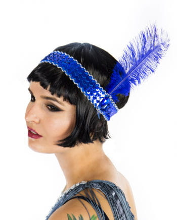 Flapper Headband Blue