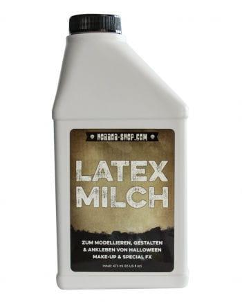 Flasche Flüssiglatex als Latexmilch