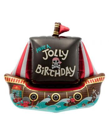 Foil balloon pirate ship birthday