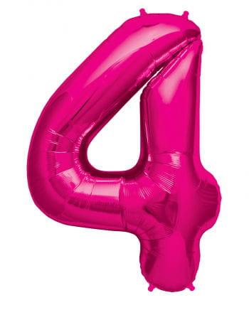 Folienballon Zahl 4 Pink