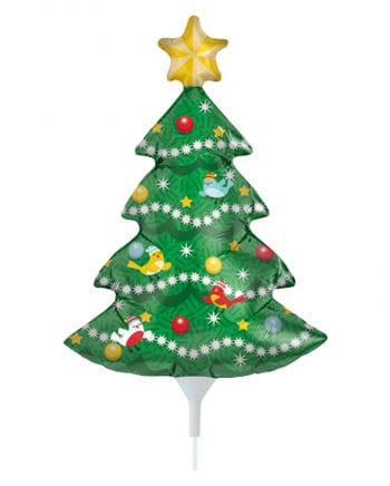 Mini Folienballon Weihnachtsbaum