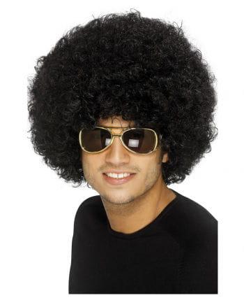Funky Afro Perücke schwarz