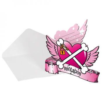 Einladungskarten Pirate Girl