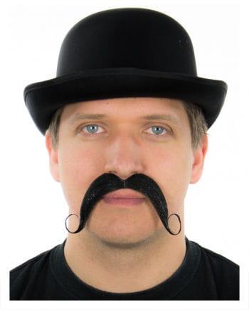 Ruffled tradable mustache black