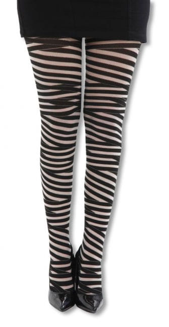 striped tights-black skin color