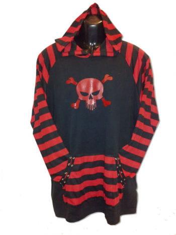 Gestreifter Pullover mit Totenkopf