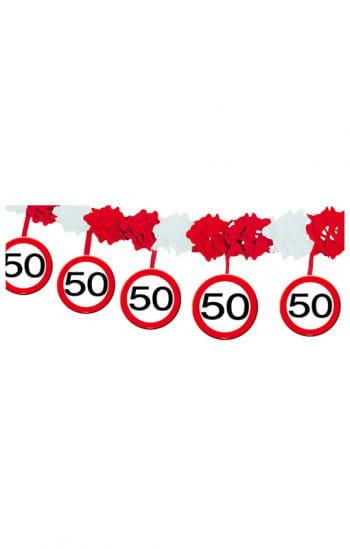 Girlande Verkehrsschild 50