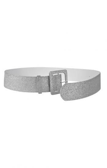 Glitter belt silver