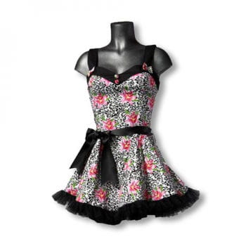 Mini Dress with Lily Print M