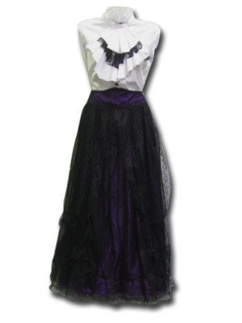 Gothic purple tulle skirt