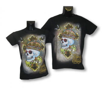 Unisex Shirt Skull Crown S/M 36-38