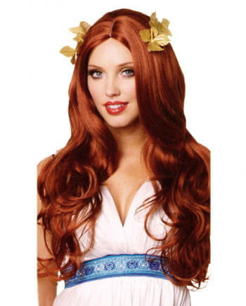 Goddess Wig With Bay Leaves Red