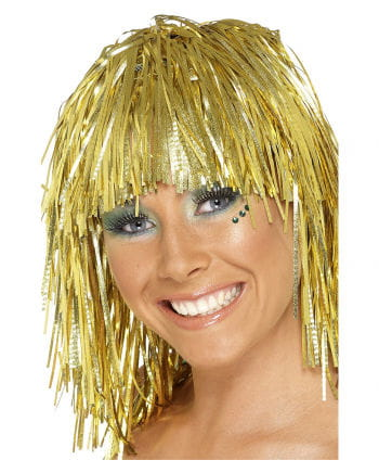Tinsel Wig Gold