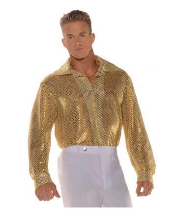 Pailletten Hemd Gold