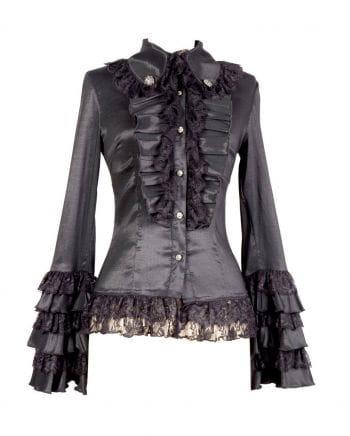 Gothic Bluse schwarz