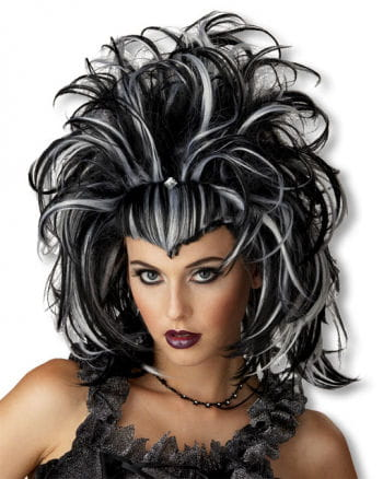 Gothic Devil Wig white black