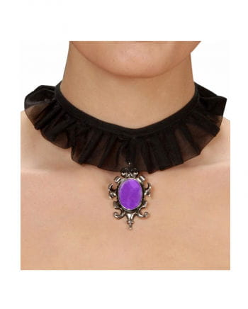 Gothic Necklace with Purple Gem