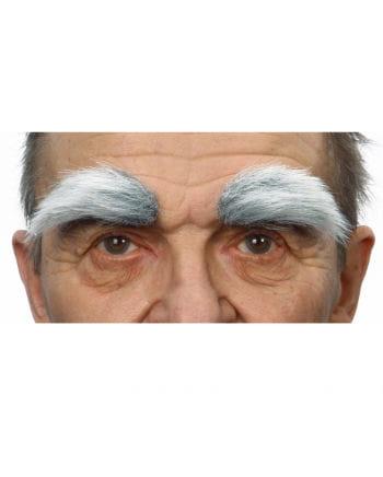 Selbstklebende Augenbrauen Grauweiß meliert
