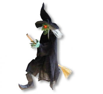 Green Witch with broom