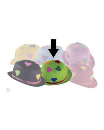 Green Party Hat With Hearts