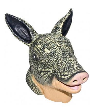 Gürteltier Latex Maske