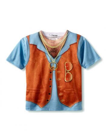 Haarige Brust Hippie Shirt XL