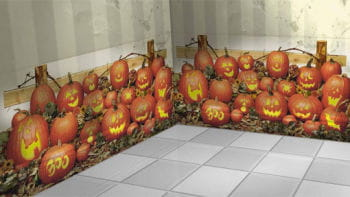 Halloween Kürbis Wandfolie