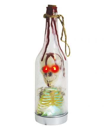Deco cylinder with skeletal and LED