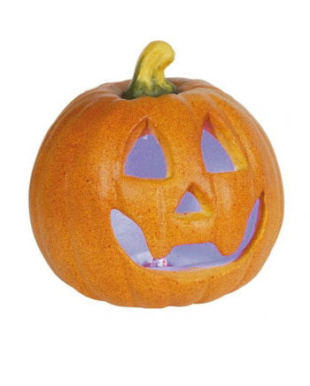 Halloween Kürbis mit LED 15 cm