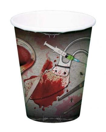 Halloween Pappbecher mit Chirurgen Motiv