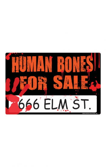 Bloody Halloween Sign Human Bones