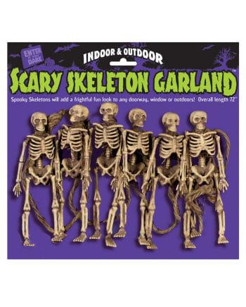 Scary Skeleton Garland 182cm
