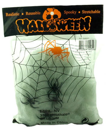Halloween spider web with 4 spiders