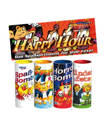 Happy Hour Tischbombe 4er-Set