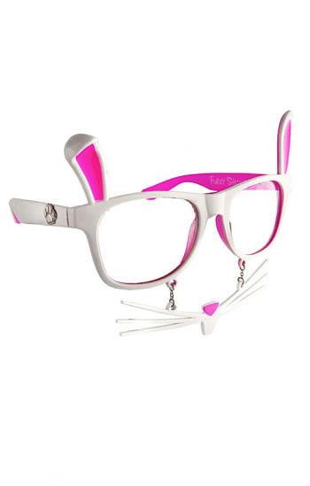 Hasen Brille mit Schnurrhaaren