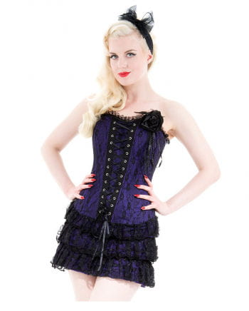Gothic Mini Dress With Lace Violet