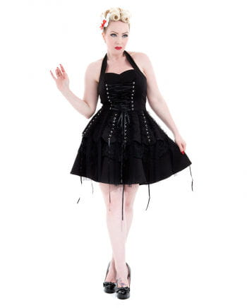 Hearts and Roses Gothic Neckholder Kleid