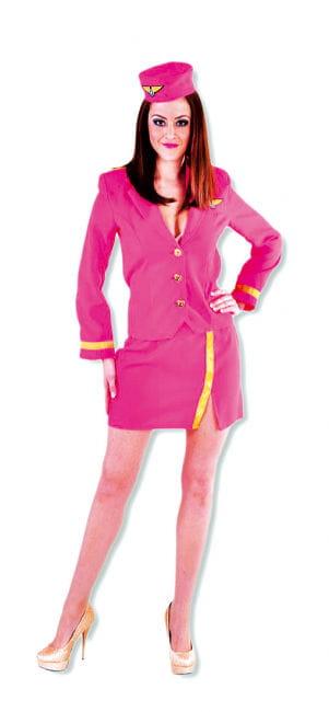 Heiße Stewardess Frauen kostüm pink