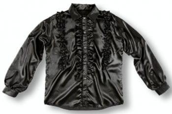 Ruffle Shirt Black