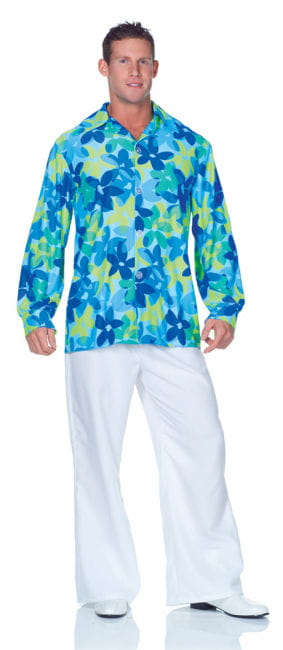 Hippie Herrenhemd blau Plus Size