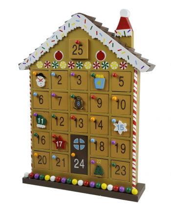 Holz Adventskalender Haus