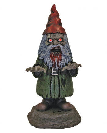 Horror garden gnome with LED eyes