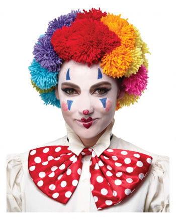 Bunte Clown Woll-Perücke