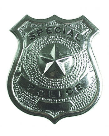 Glänzende Polizeimarke